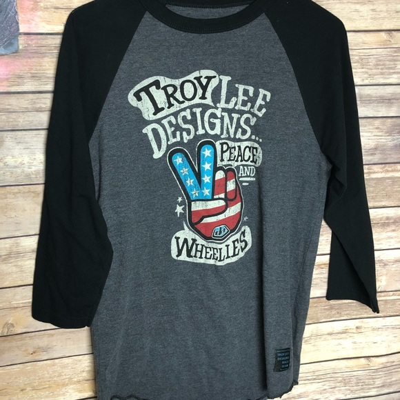 dc602ad21 troy lee designs Tops | Peace And Wheelies S Women Shirt | Poshmark